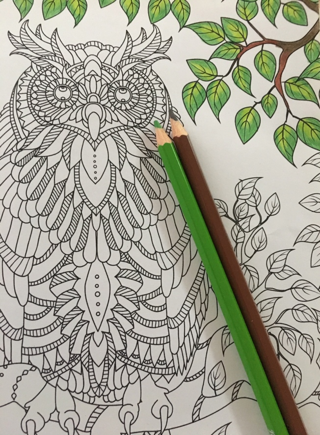 Step 1: The obvious leaves and branches.